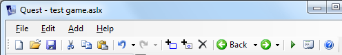 Quest Editor toolbar