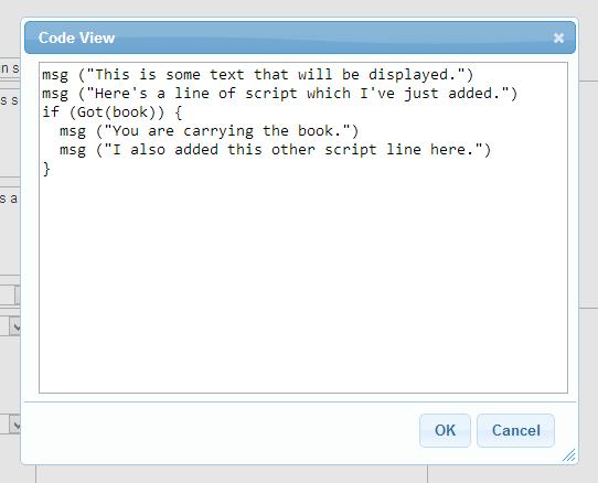 Web Editor Code View