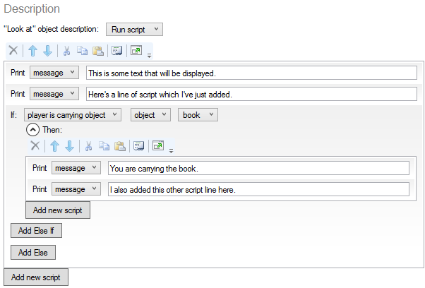 Making changes in Code View